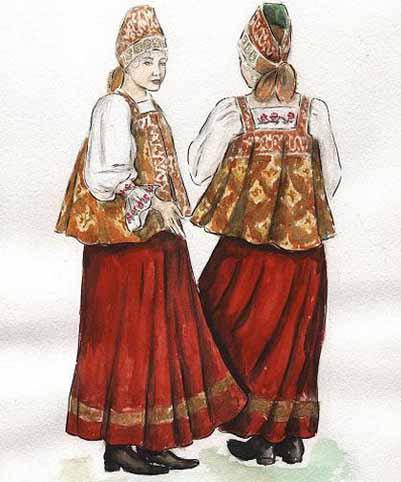 Русский костюм с выкройками